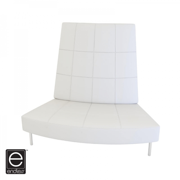 White Endless Small Curve High Back Chair
