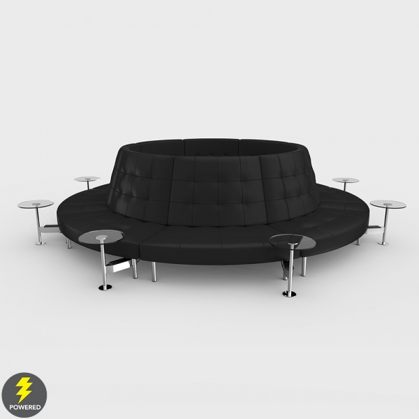 Endless Powered High Back Closed Circle w Round Tables
