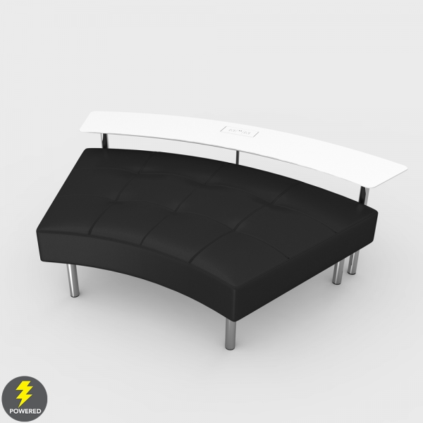 Endless Powered Large Curved Table w Curved Ottoman