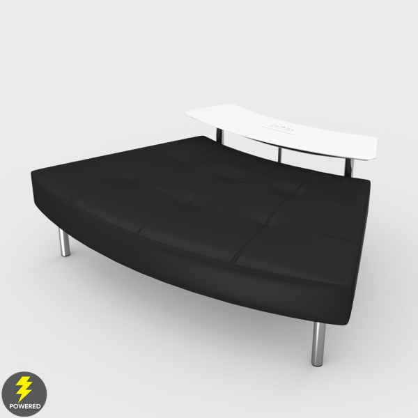 Endless Powered Small Curved Table w Curved Ottoman