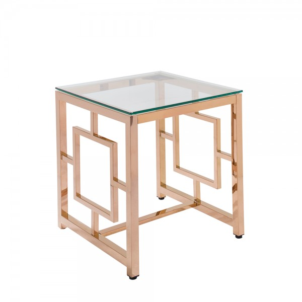 Hayworth End Table, Glass