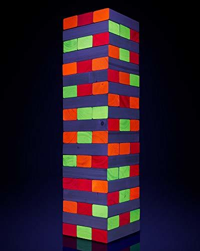 Oversized Blacklight Jenga Game