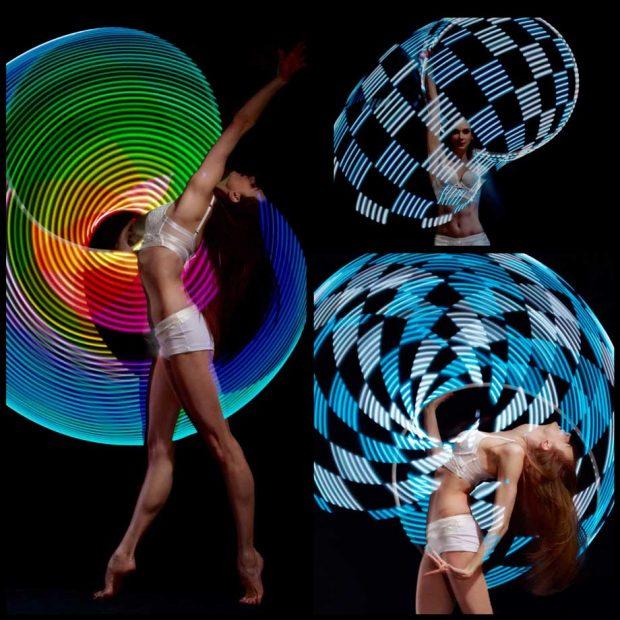LED Hoop Show