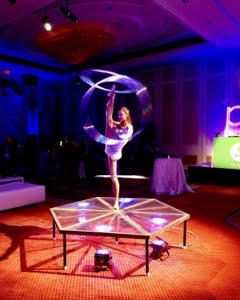 LED Plexiglass Stage Hoops