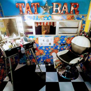 Faux Tattoo Station inside
