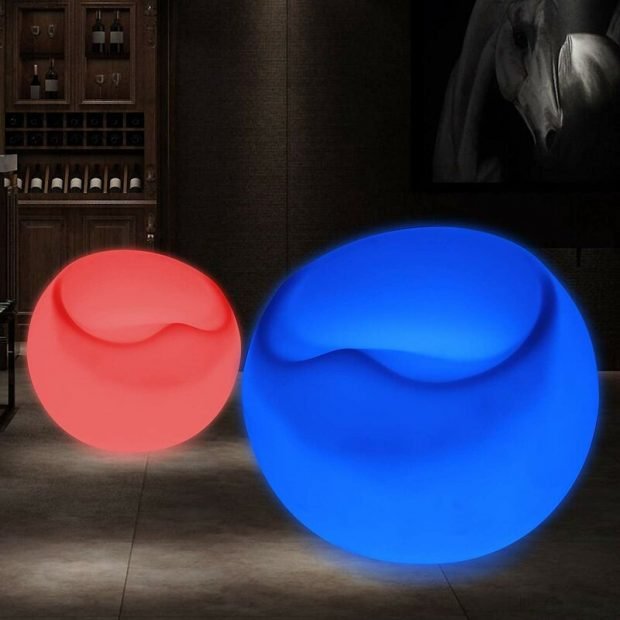 Chair White Plug-In LED Outdoor Floating Light