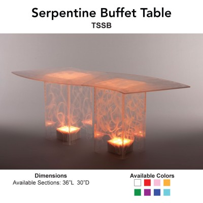 22 Buffet - Etched Acrylic Serpentine Main