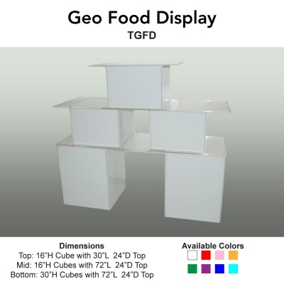 25 Tables - Geo Food Display MAIN