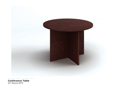 42 inch Rd  Conference Table (Mahog)