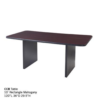 CC8 10ft rectangle mahogany