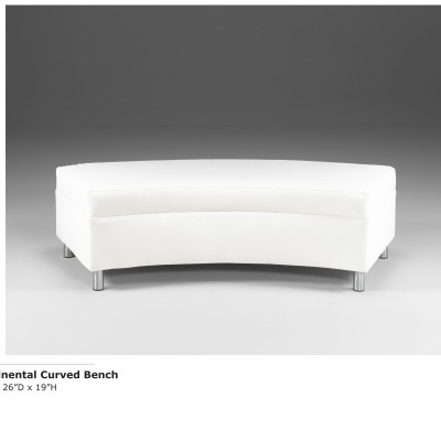 Continental Curved Bench