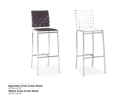 Criss Cross Bar Stool
