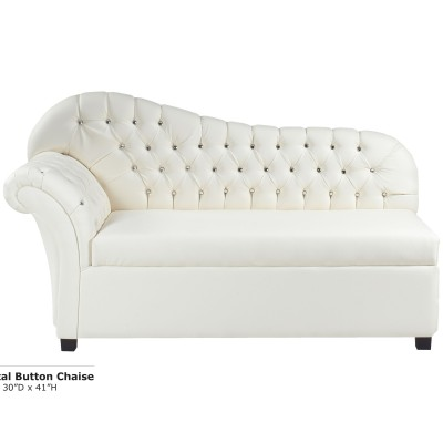 Crystal Button Hiback Chaise