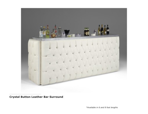 Crystal Button Leather Bar Surround