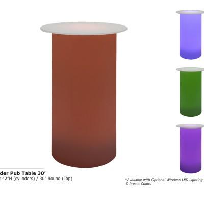Cylinder Pub Table 30inch