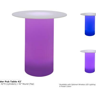 Cylinder Pub Table 42inch