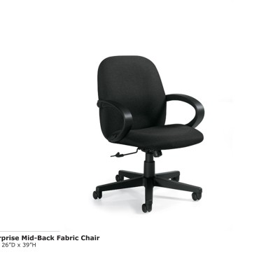 Enterprise Mid Back Fabric Chair