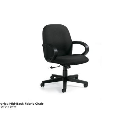 Enterprise Mid Back Fabric Chair