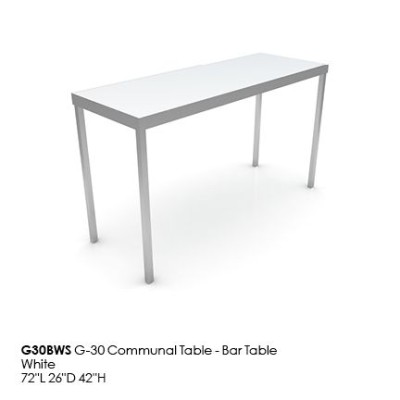 G30BWS G30 Communal Table_Bar_white
