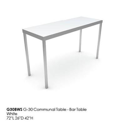 G30BWS G30 Communal Table_Bar_white