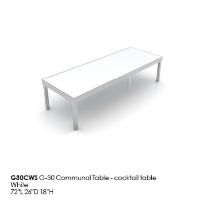 G30CWS G30 Communal Table_cocktail_white