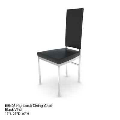 HBN08 Highback Dining Chair Black
