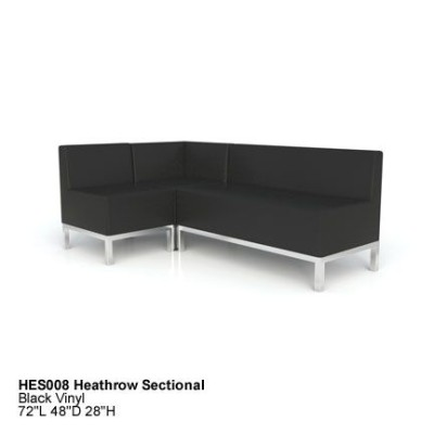 HS008 heathrow sectional black