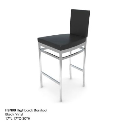 HSN08 Highback Barstool black
