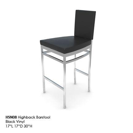 HSN08 Highback Barstool black