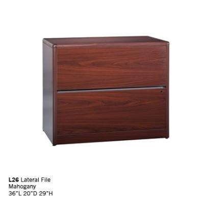 L26 lateral files mahogany