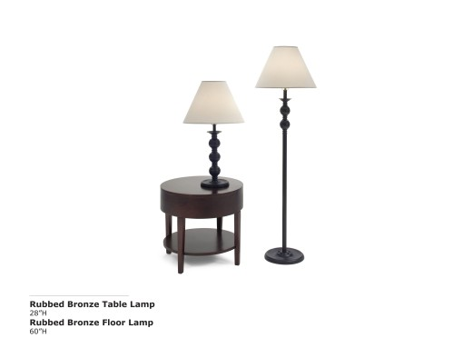Rubbed BronzeTable and Lamp
