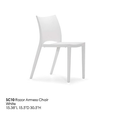 SC10 Razor Armess Chair_white