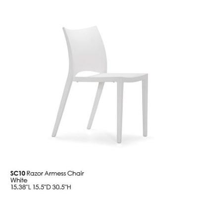 SC10 Razor Armess Chair_white