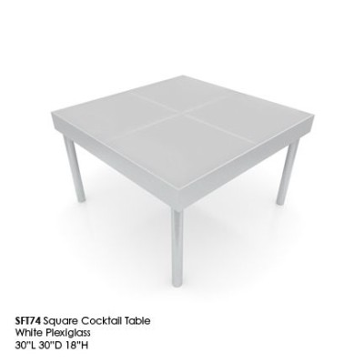 SFT74 square cocktail table white