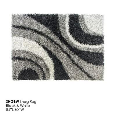 SHGBW Shag Rug_black_white