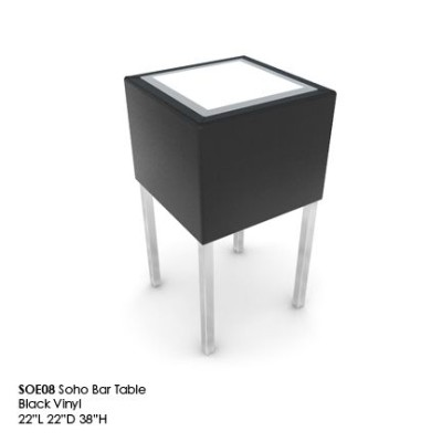 SOE08 Soho bar table black