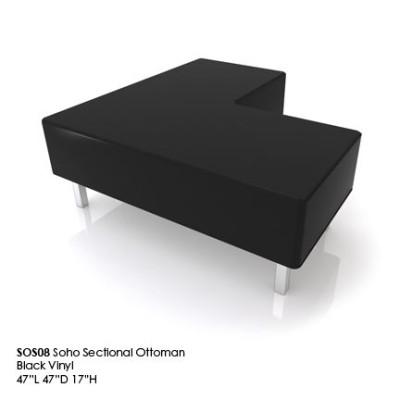 SOS08 Soho Sectional ottoman black
