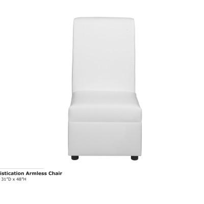 Sophistication Armless Chair