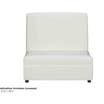 Sophistication Armless Loveseat