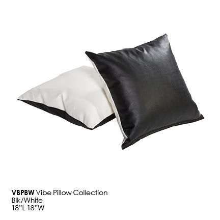 VBPBW Vibe Pillow_Blk_White