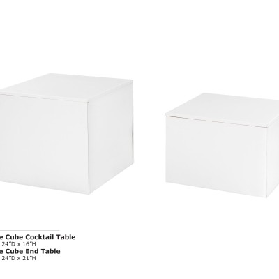 White Cube Cocktail Table